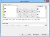 Calculadora raster con ArcGIS