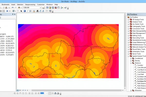 Distancia euclidiana y reclasificación raster con ArcGIS