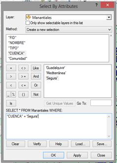 Seleccion de entidades vectoriales con ArcGIS