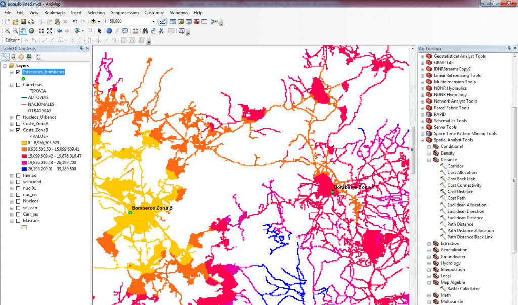 cost distance ArcGIS
