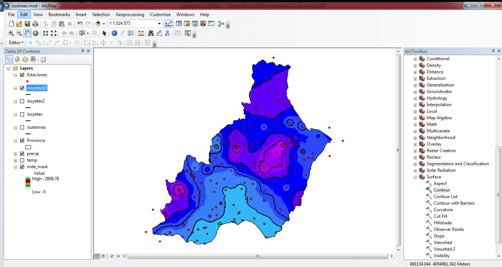 09_Isolineas_ArcGIS