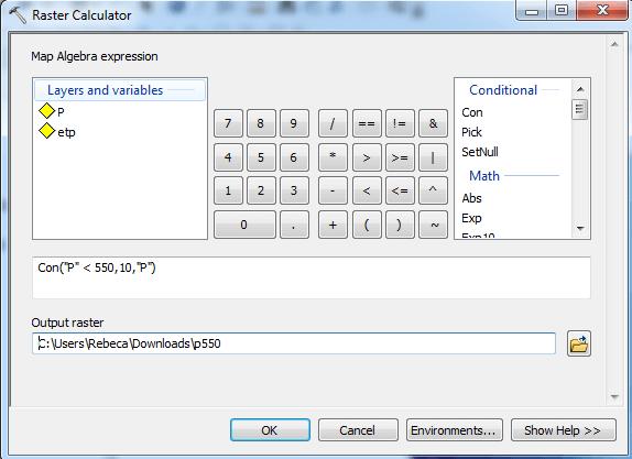 Sustituir valores de un raster con ArcGIS 02