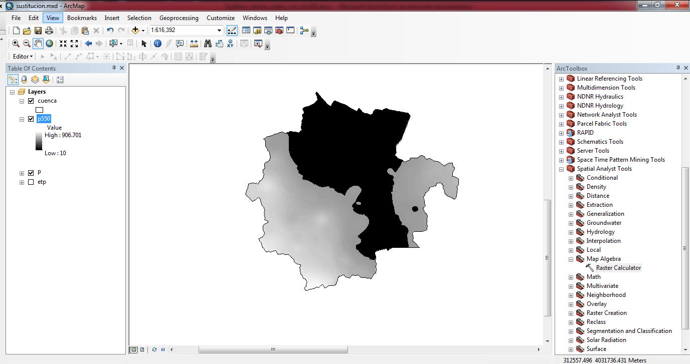 Sustituir valores de un raster con ArcGIS 03