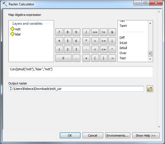 Sustituir valores de un raster con ArcGIS 07