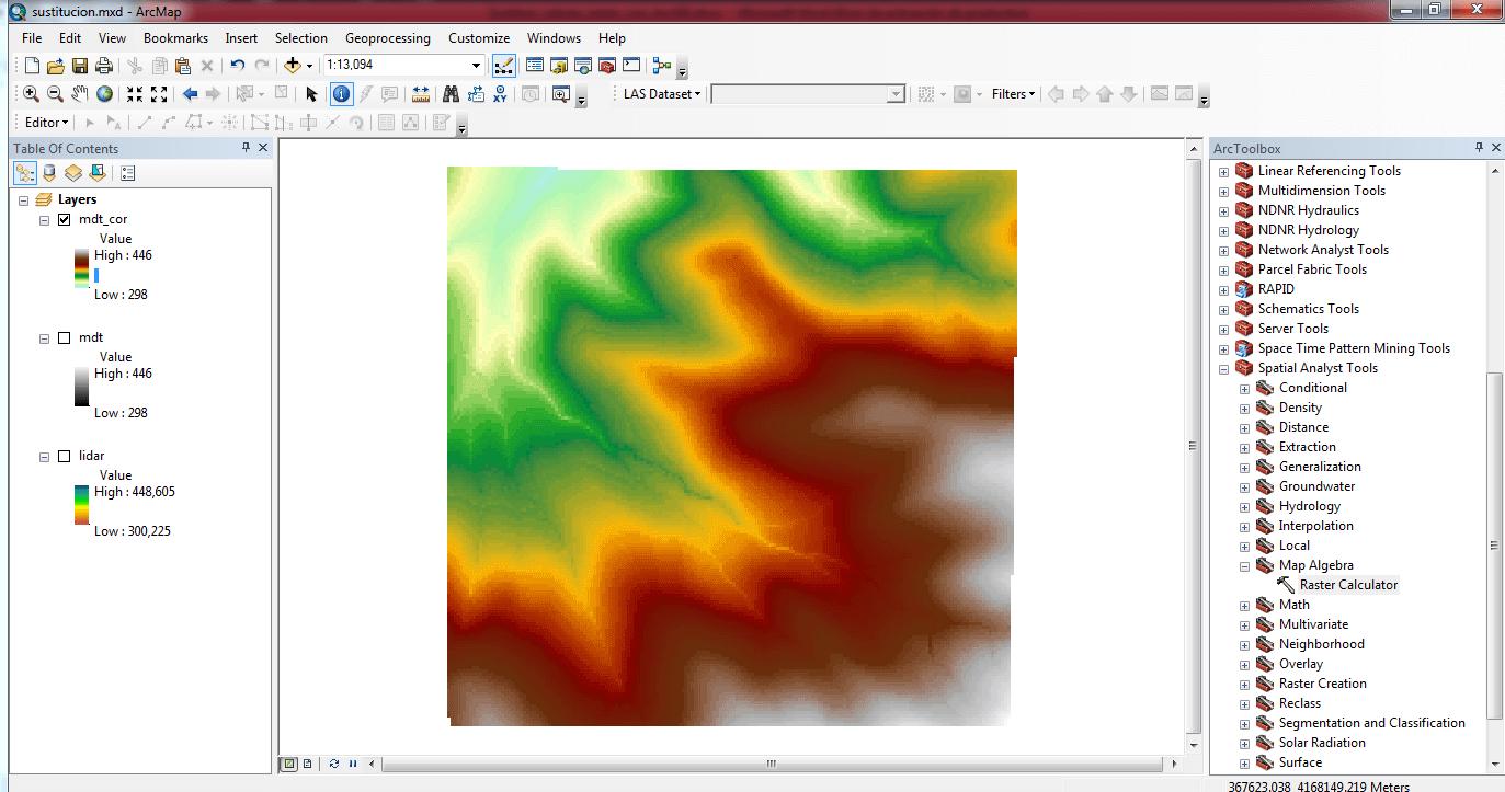 Sustituir valores de un raster con ArcGIS 08