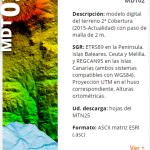 Modelo Digital del Terreno 2 metros
