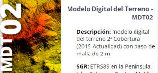 Nuevo Modelo Digital del Terreno 2 metros
