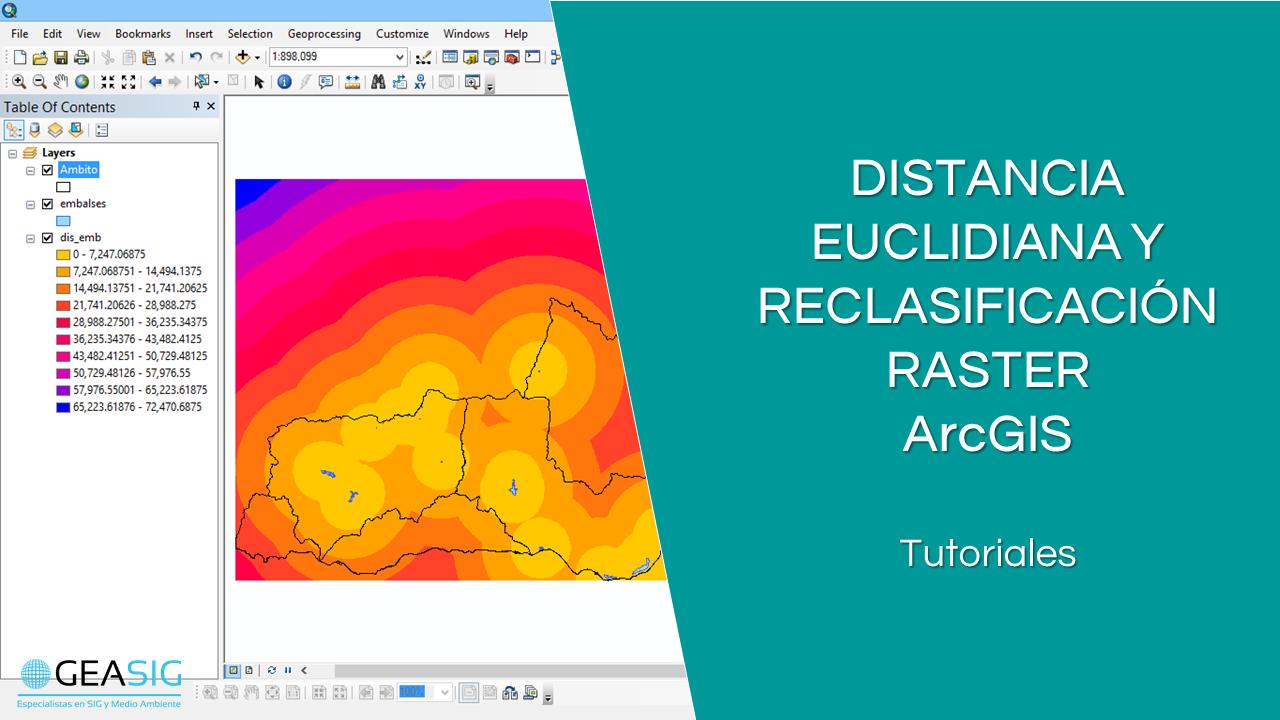 En este momento estás viendo Distancia euclidiana y reclasificación raster con ArcGIS