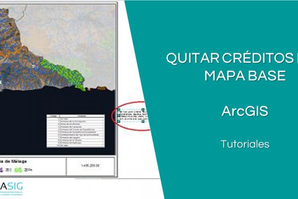 Quitar los créditos del mapa base en ArcGIS