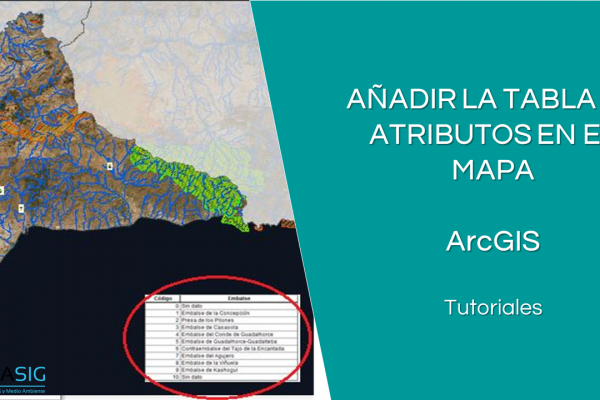 Añadir la tabla de atributos en el mapa en ArcGIS