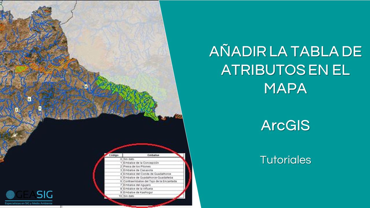 En este momento estás viendo Añadir la tabla de atributos en el mapa en ArcGIS